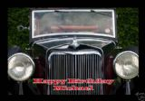 Personalised Classic Car Greetings/Birthday Card